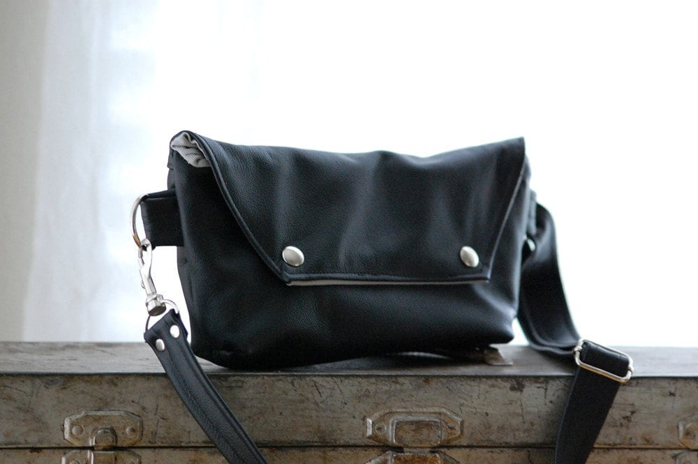 Traveler in Black Leather - Made to Order