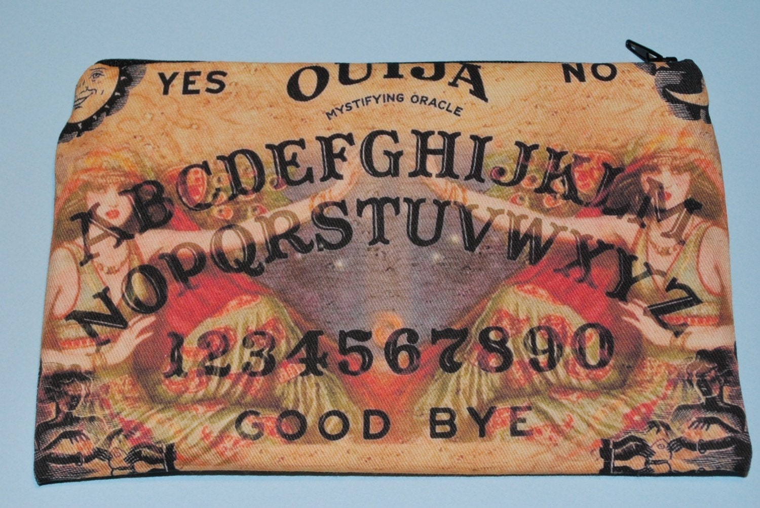 Ouija Girls Cotton Fabric Zip Pouch