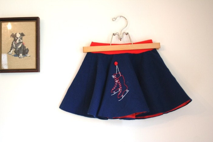 Vintage Little Girl's Ice Skater Circle Skirt sz 7