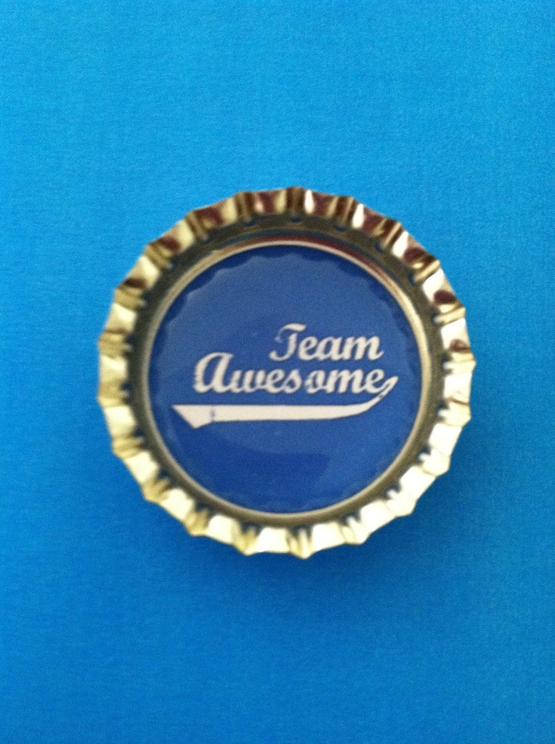 Cute TEAM AWESOME fun COLORED Magnet - home decor magnet