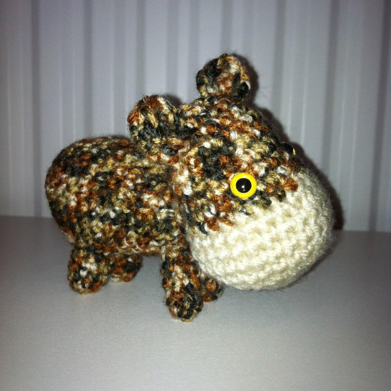 Hippo Amigurumi Hippo Crochet Hippo Handmade Soft Toy