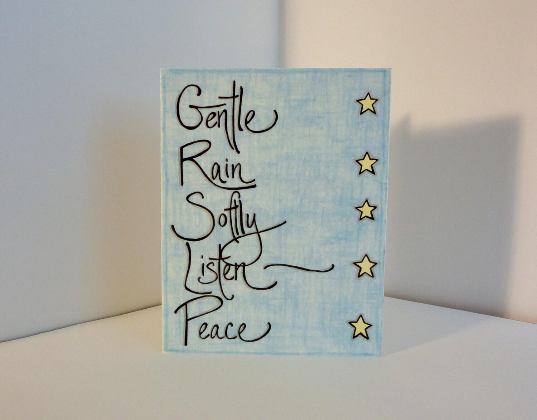 Gentle Rain notecard - NotesByPost