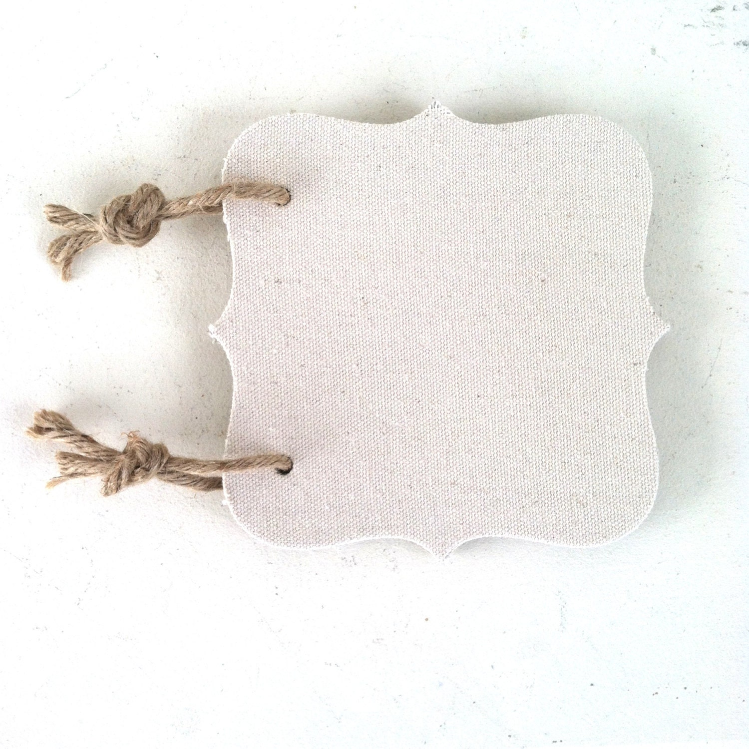 Chipboard Journal Square 4 Page ~ Mini Album Paper Twine Shabby Chic Canvas Drop Cloth Frame Nautical Rope - CottageAndSprout