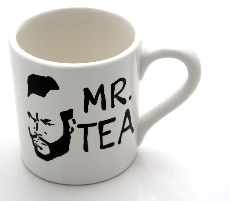 Reserved for Chrissy--Tea Cup Featuring Mr. T an 80s Retro Flashback