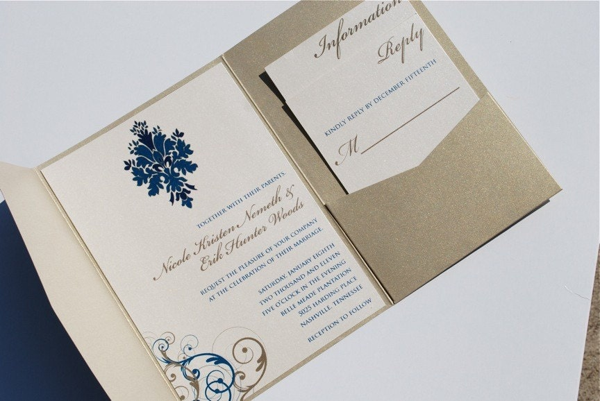 Peacock Wedding Invitation Cards: Ooo the Blues and Greens ...