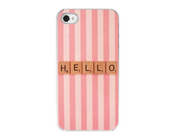 Whimsical iPhone 5 hardcover case - iPhone 5 photo cover 'Hello' Fine Art Photo - Pink iPhone Cover - ZoeWithLove