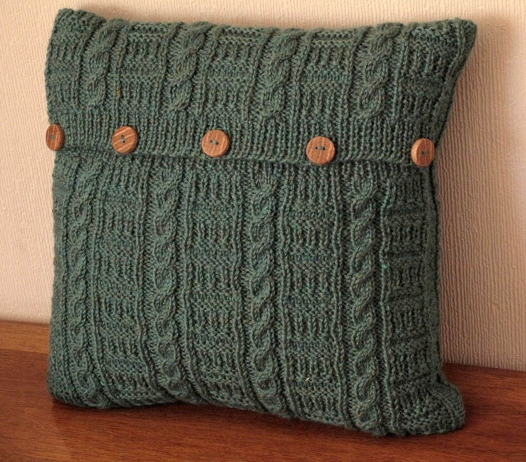Cable and Ladder Cushion Cover -spruce green- Pick and Mix