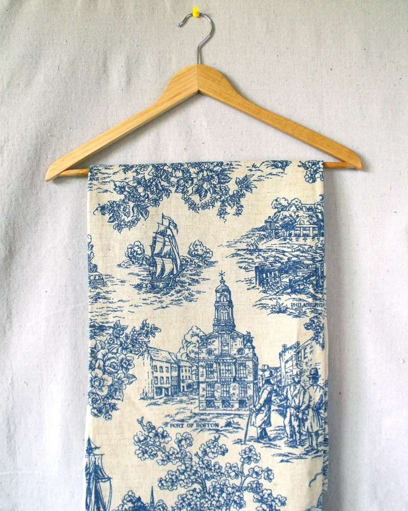 Vintage 70s Toile Curtains Drapery Panels By Willaminavintage