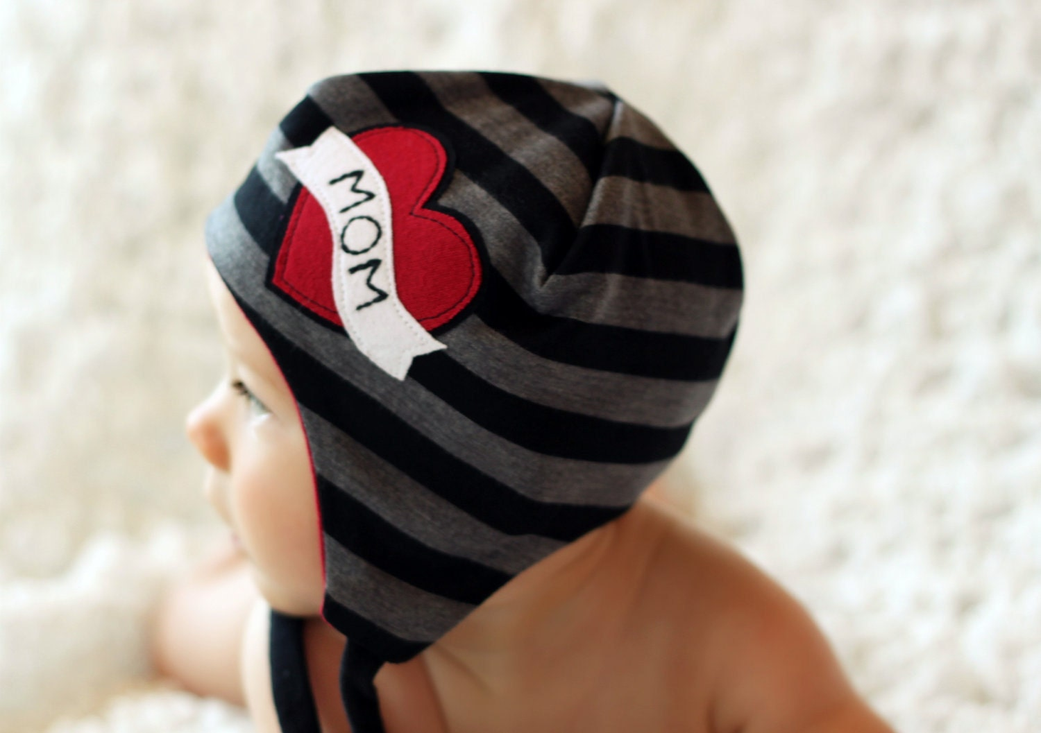 the LINCOLN baby beanie, available in multiple sizes, great photography prop