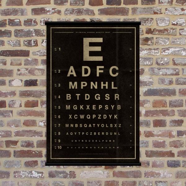 Vintage Eye Chart Original Alpine Graphics By Alpinegraphics