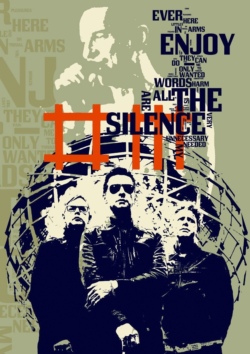 Enjoy the Silence BY Depeche Mode THE SONG - collage limited edition