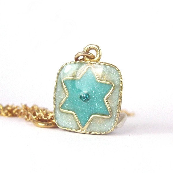gold star of david necklace. gold star of david necklace.