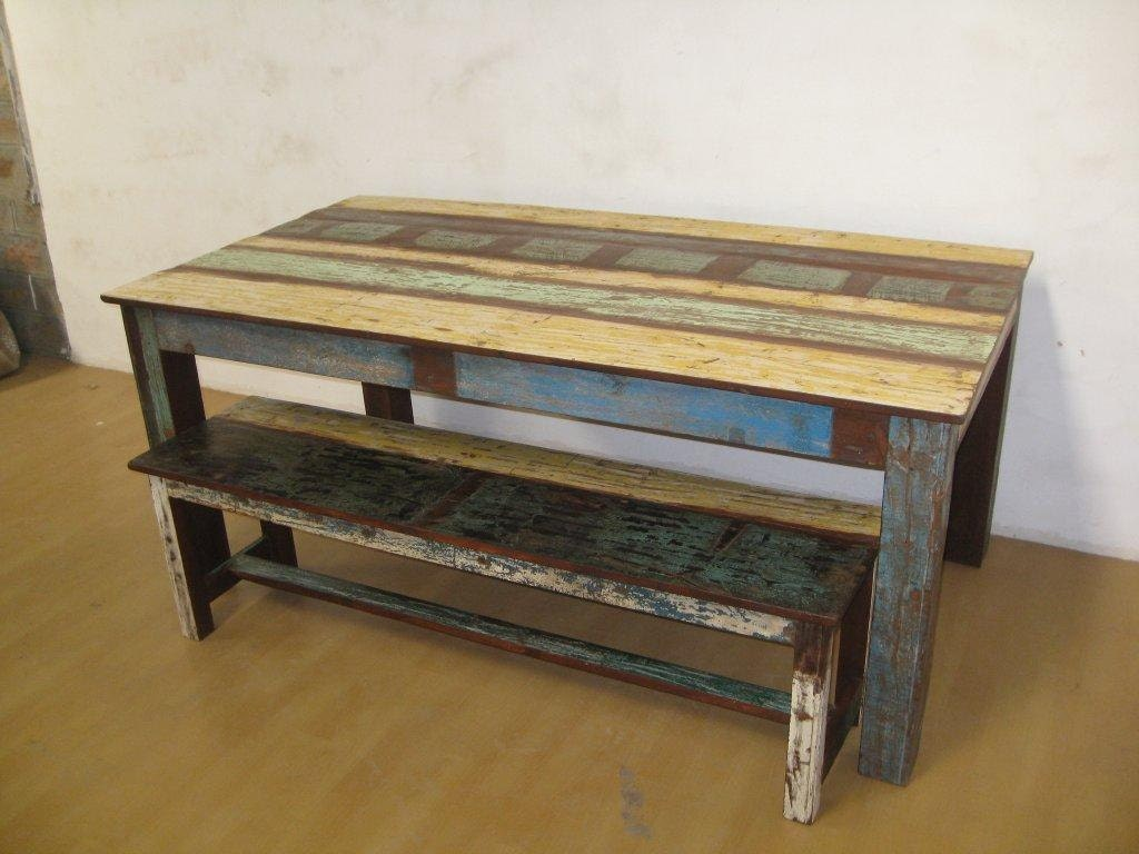 Upcycled Dining Table Set