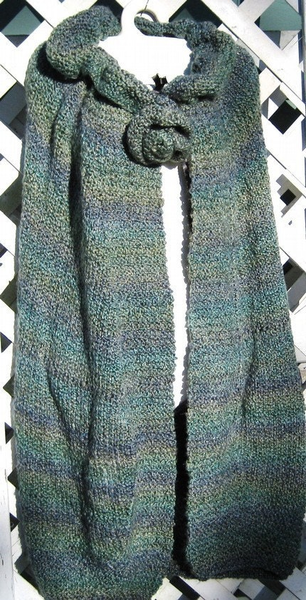 SALE-DESIGNER-Victorian style cape-EVERGREEN-Wereable Art-one of a kind-hand knit by Fiber Artist GERRY-FREE SHIPPING