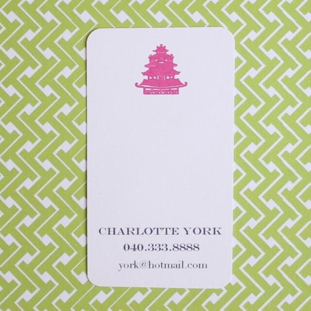 Pagoda Calling Cards
