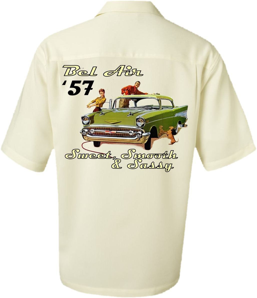 classic car shirt 1957 chevy bel air vintage look by. Black Bedroom Furniture Sets. Home Design Ideas