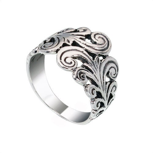 filigree band sterling silver ring op 757 by