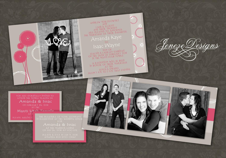 Plain Wedding Invitations Movie Ticket Wedding Invitations >>