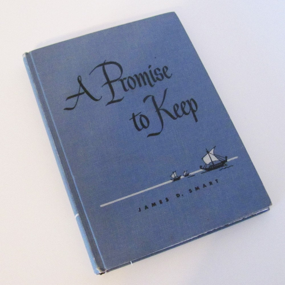 A Promise to Keep handmade journal from repurposed vintage book