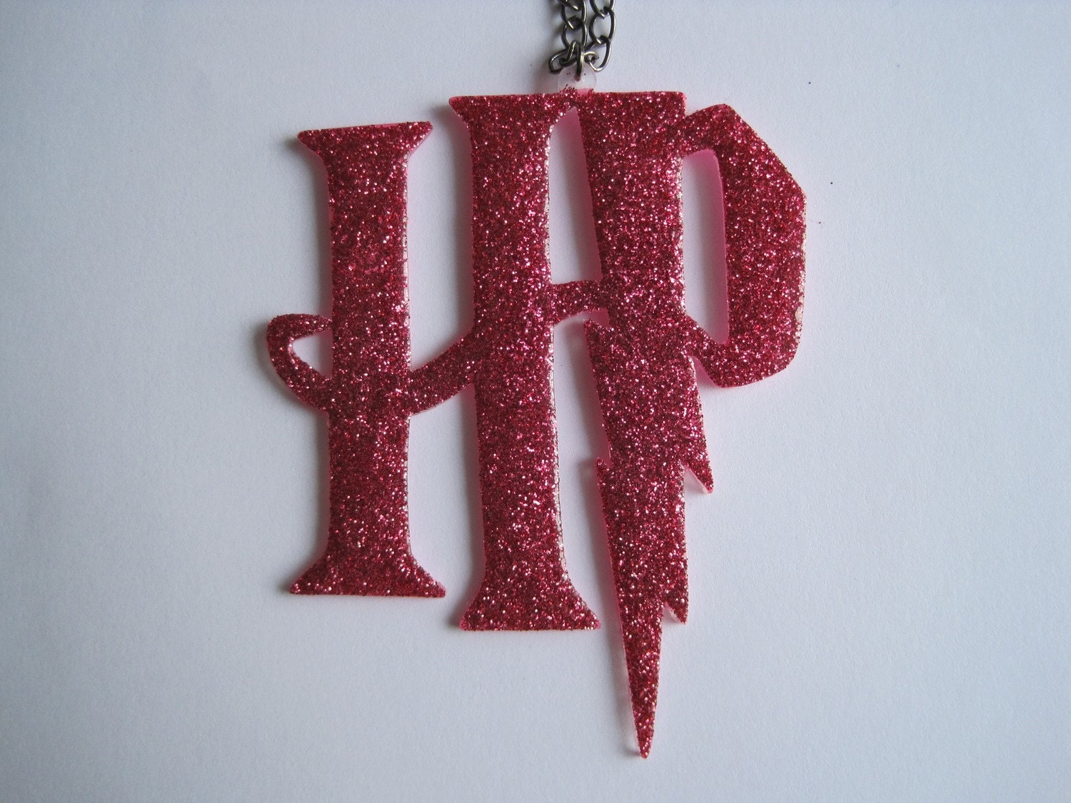 harry potter logo hp. Pink Glitter Harry Potter HP