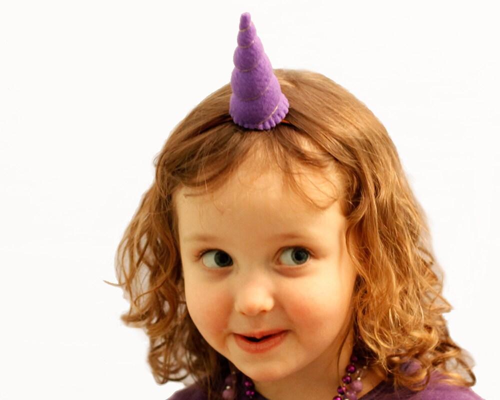 Unicorn Horn headband Tween Size  you choose the color with elastic headband - BrooklynOwl