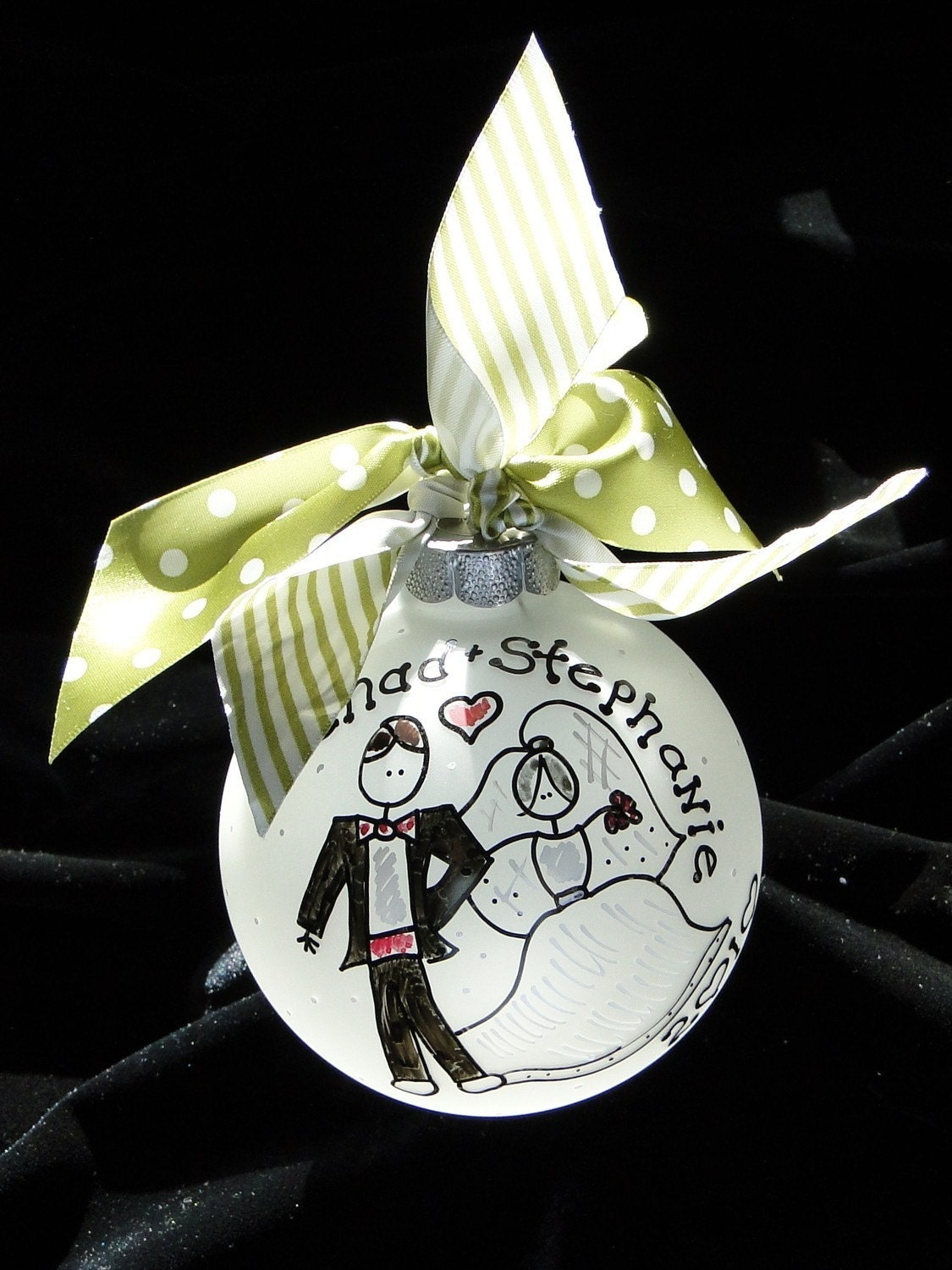 OUR FIRST CHRISTMAS Personalized Ornament for the Newlyweds