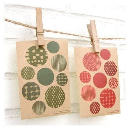 pattern sticker (red/green)