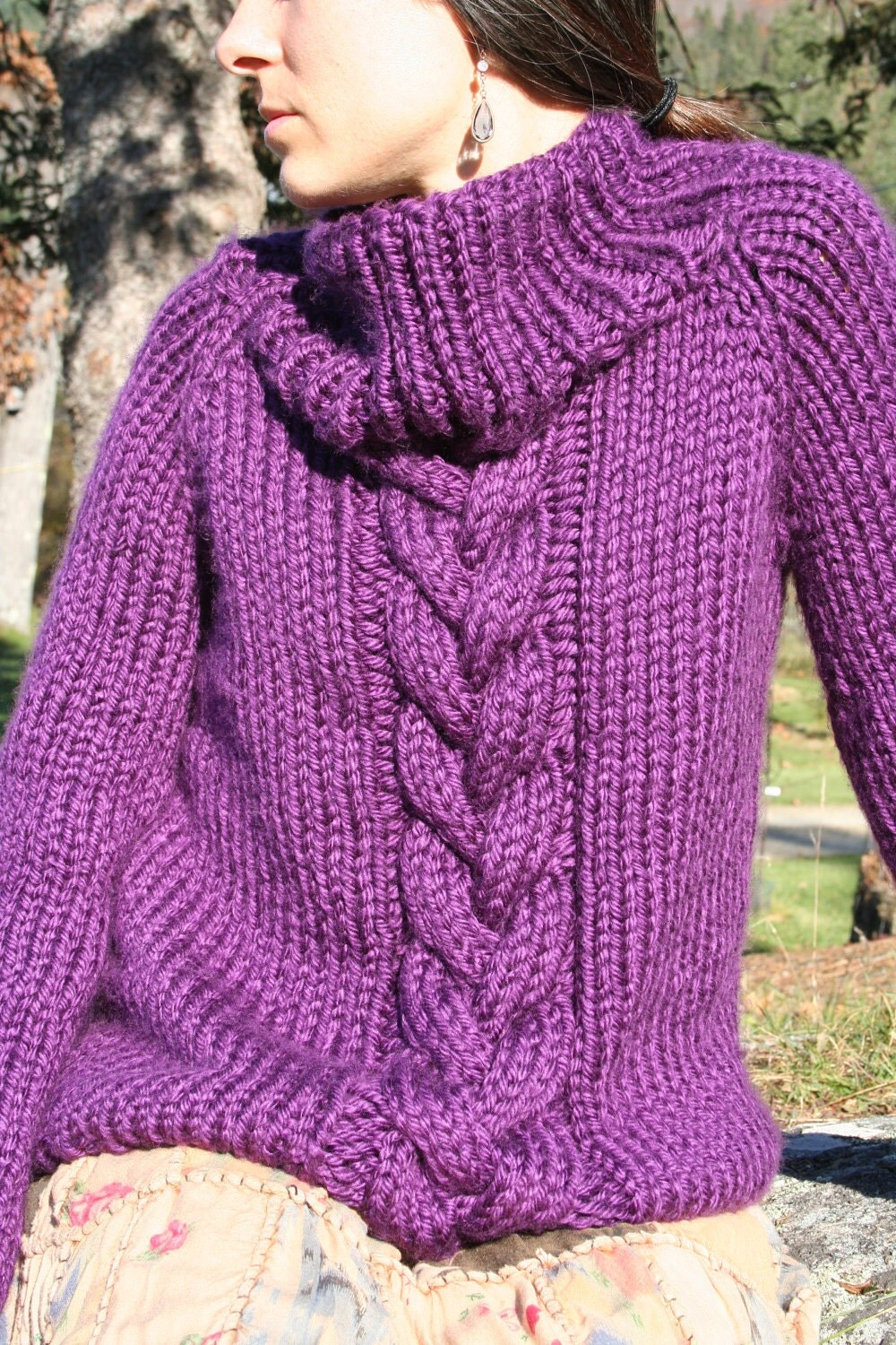 Chunky Knit Jumper Pattern : chunky sweater KNITTING PATTERN by AmandaLilleyDesigns on Etsy