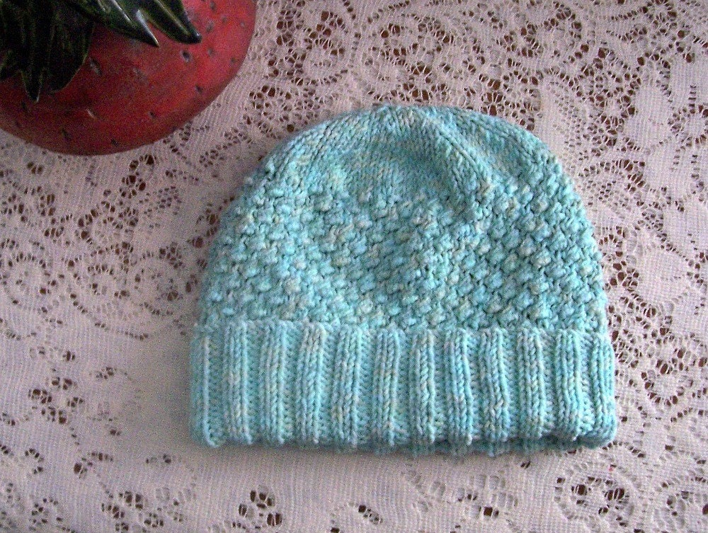 Trinity Stitch Knit Hat Pattern : Items similar to Aran Inspired Trinity Stitch Winter Hat Knitting Pattern on ...