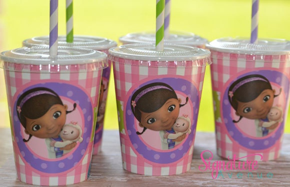 Kids Party Cups-Doc McStuffins Birthday Party-Set of 8