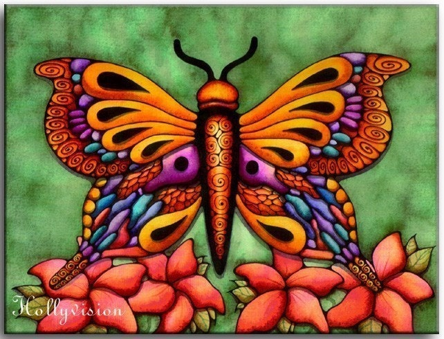 abstract butterfly is a