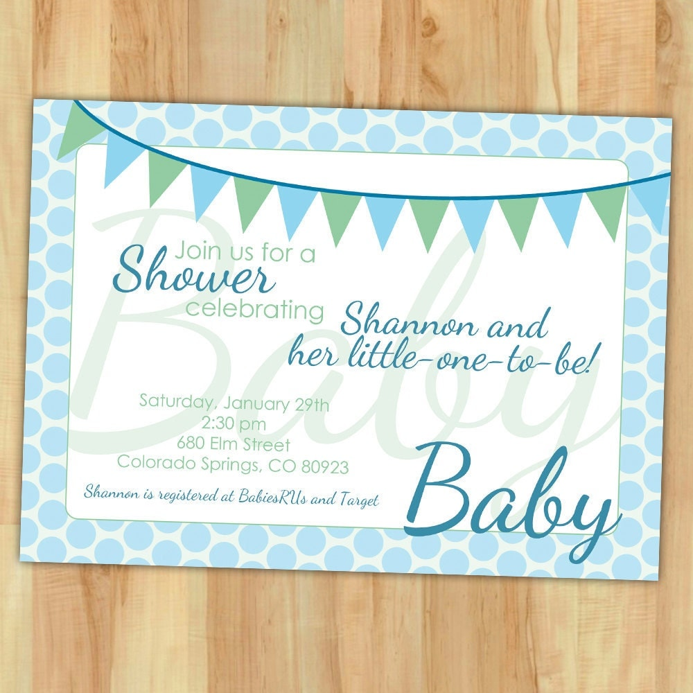 Items Similar To DIY Baby Shower Invitation Banner And