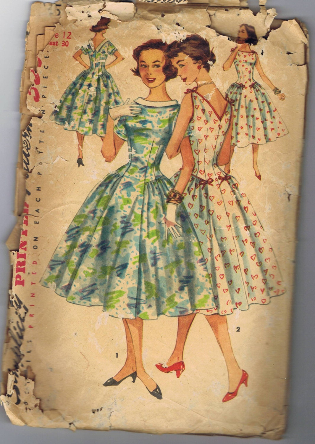 1950s  Party Dress,Simplicity 1555 Size 12