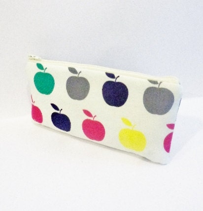 Zipper Pouch Pencil Case Cosmetic Pouch Toiletry Bag An Apple for the Teacher - handjstarcreations
