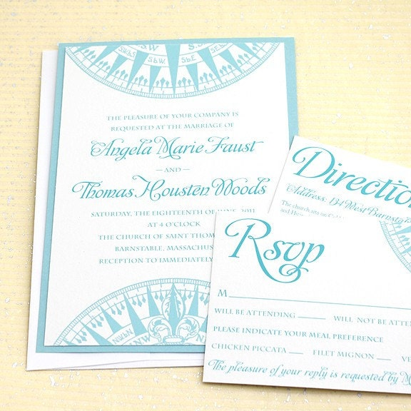 Items Similar To Compass Nautical Wedding Invitation Suite Sample Set On Etsy