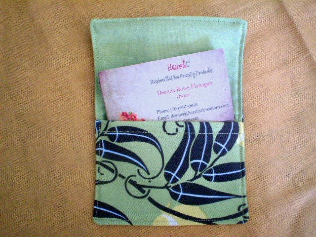 Business card or gift card holder in Amy Butler fabric