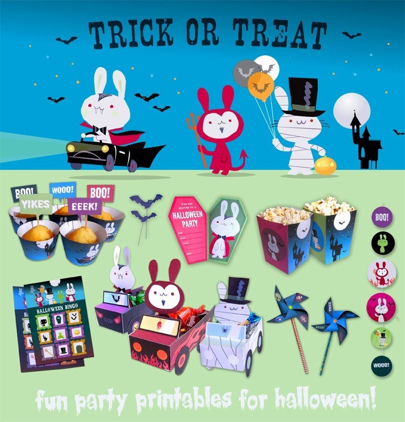Halloween Bunnies Party Printables