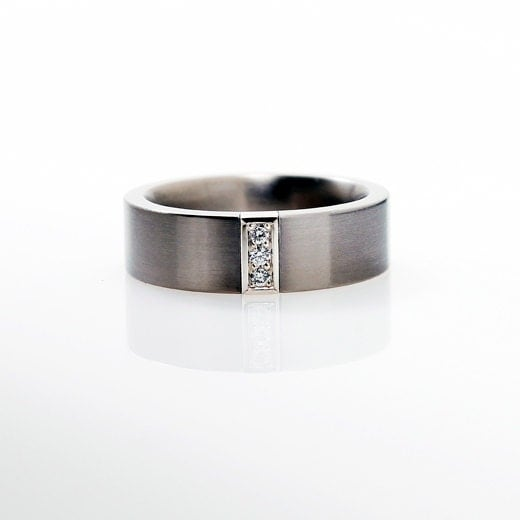 titanium wedding band gold titanium by