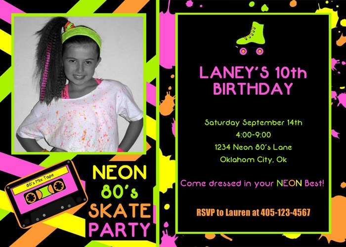 Roller Skate Party Invitations Free Printable is awesome invitation ideas
