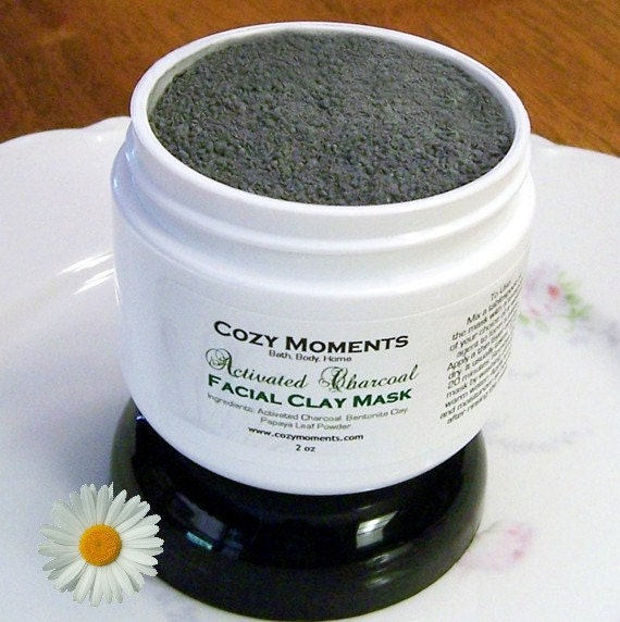 Bentonite Clay And Activated Charcoal Face Mask: Activated Charcoal Facial Clay Mask By CozyMomentsLLC On Etsy