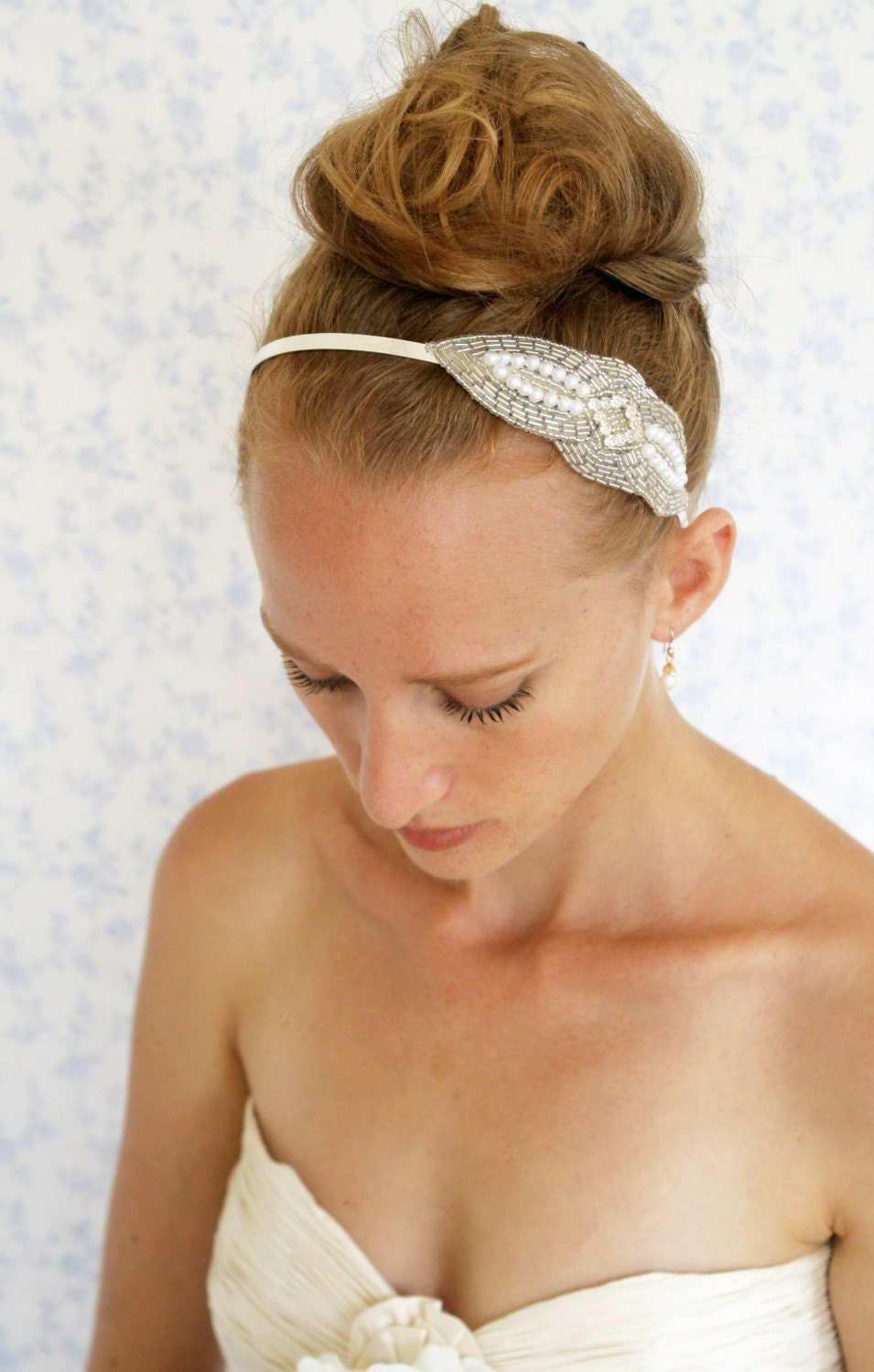 Silvery night headband