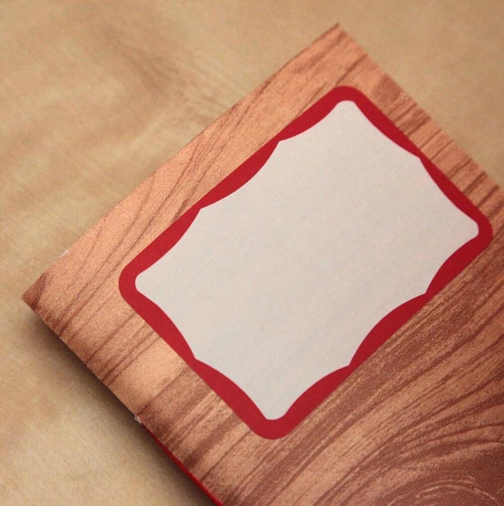 woodgrain pattern handmade mixed paper notebook