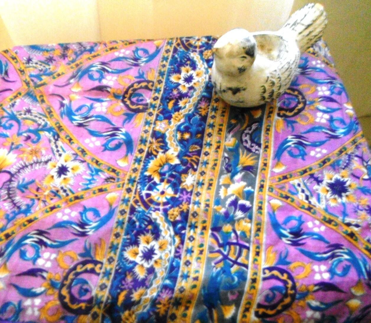 Wedding Altar Cloth: Table Runner Table Scarf Altar Cloth Purple Silk By