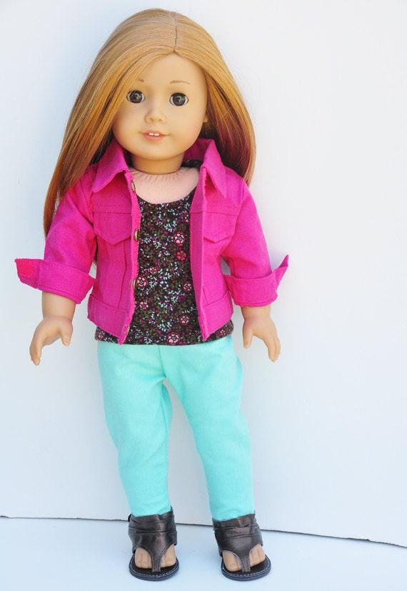 Girls Pink Jean Jacket