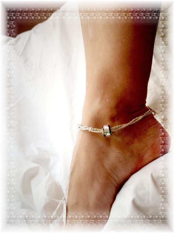 Black Silver Pandora Anklet Ankle Bracelet 10 By Ankletallure