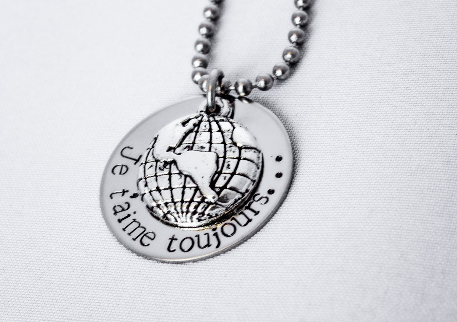Tungsten Carbide Rings: Adoption Love Necklace