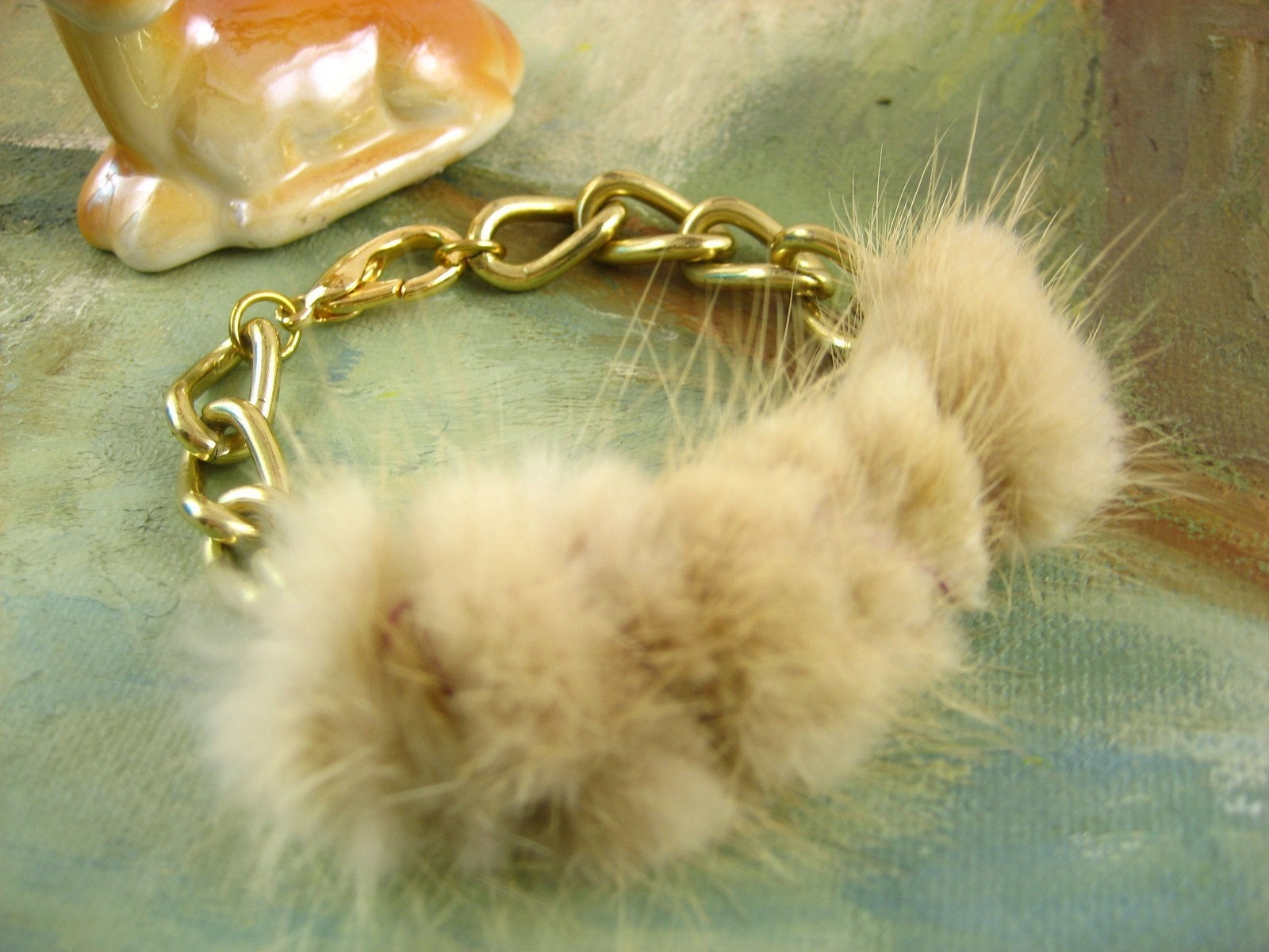 Recycled Mink Fur Bracelet - FW Collection