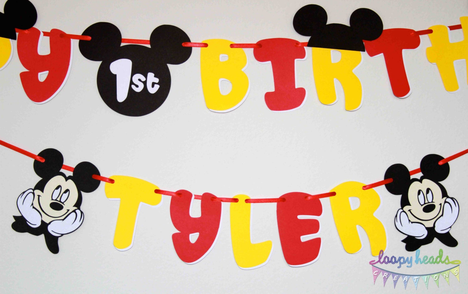 image gallery of mickey mouse birthday banner