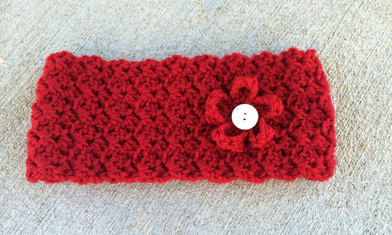 Headband/Earwarmer, Crochet, Stretc hy