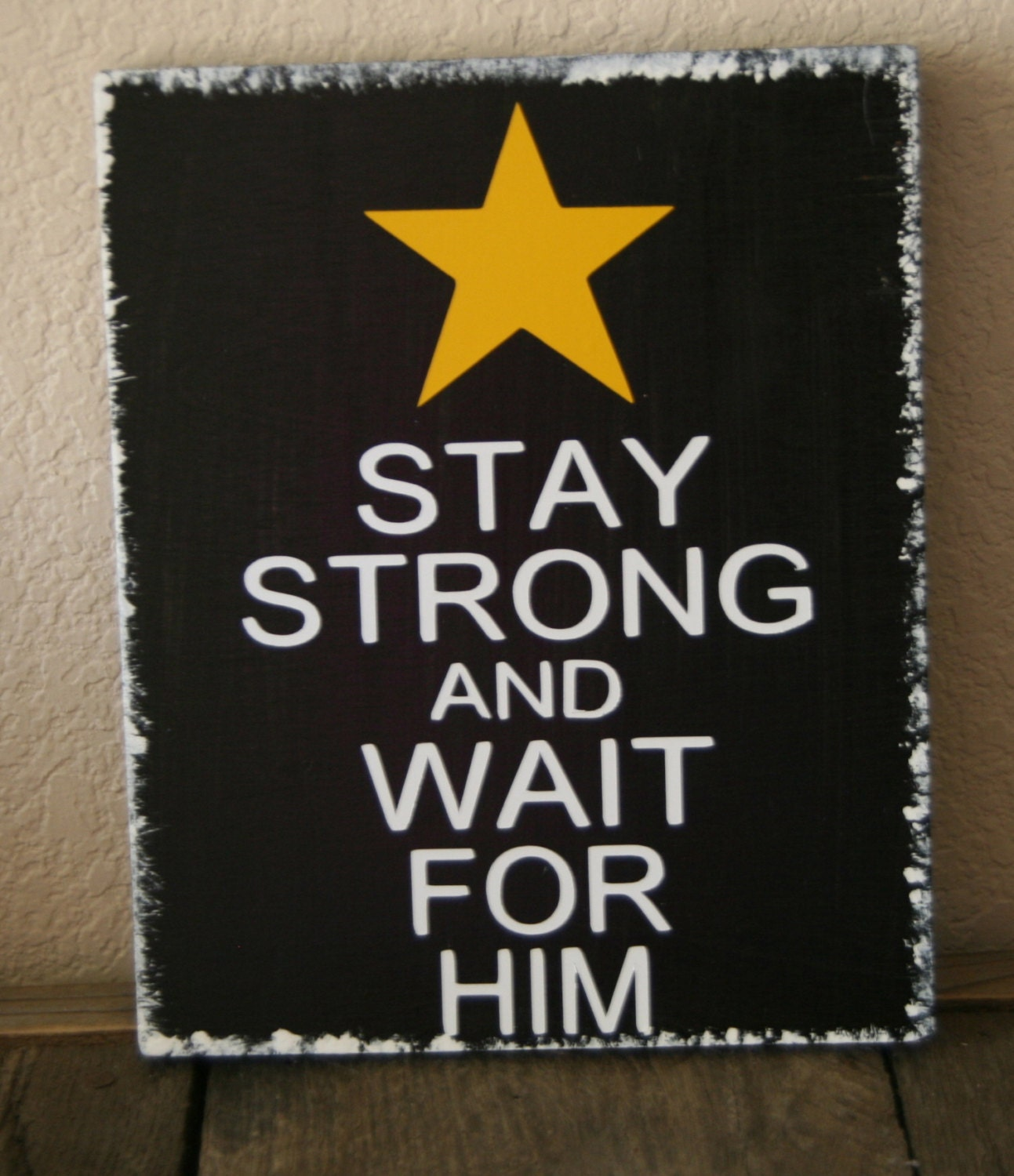 ARMY HOOAH Stay Strong and Wait for him Military - Kreationsbykellyr